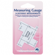 Hemline - Double Sided Measuring Gauge - 14 Different Measurements